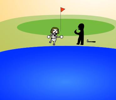 池から出てきた何かと交渉