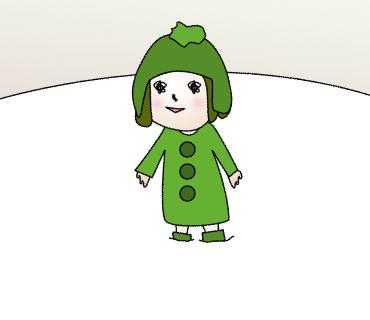 01雪の中からこんにちは
