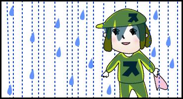 03大雨でもゴルフ場は開いている