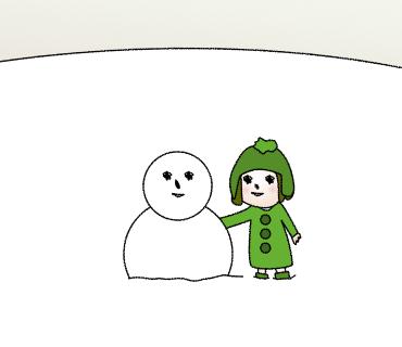 08雪だるまひとつ