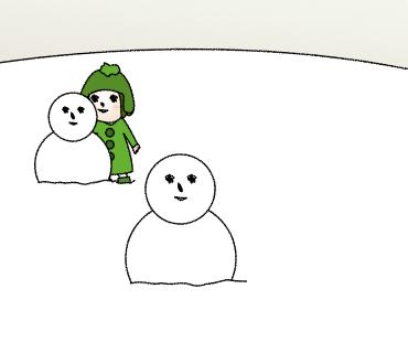 09雪だるまふたつ