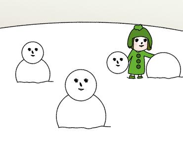 10雪だるまですよ