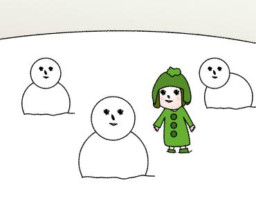 11雪だるまみっつ